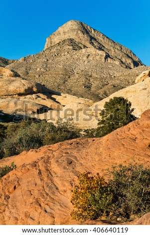 Colorful Sandstone Formations in Red Rock Canyon, Nevada, USA - stock photo