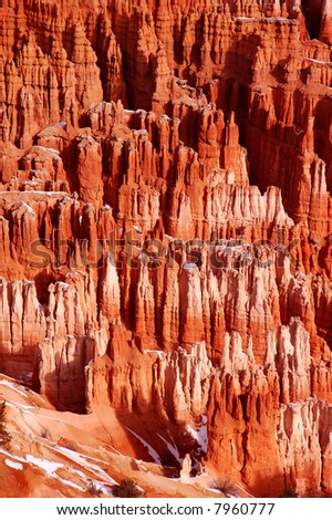 Colorful sandstone spires and Hoodoos, Bryce Canyon National Park, Utah - stock photo
