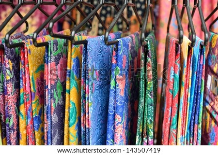 colorful sarong - stock photo