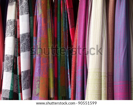 Colorful Scarfs set - stock photo