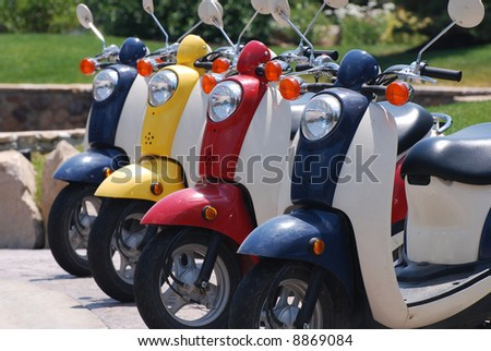 Colorful Scooters - stock photo