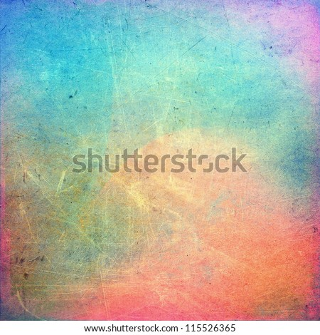 Colorful scratched vintage background - stock photo