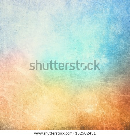 Colorful scratched vintage background