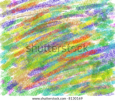 colorful scribble drawn on piece of paper abstract background image - stock photo