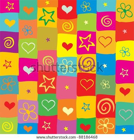 Colorful seamless background. Illustration - stock photo