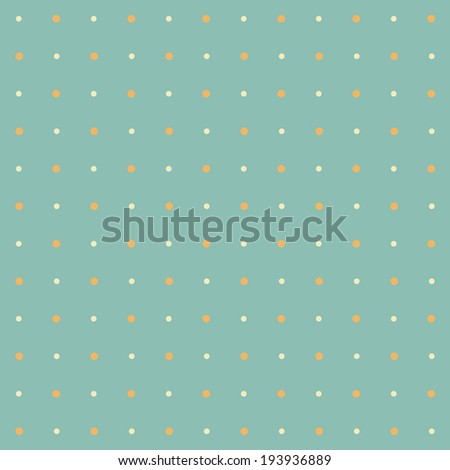 Colorful seamless polka dot pattern on turquoise background (raster illustration)
