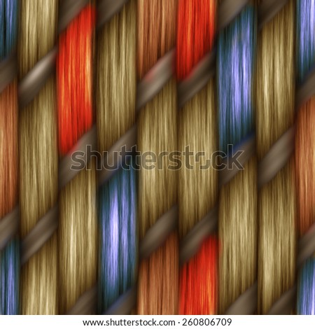 colorful seamless weaving texture pattern wood  or hair - stock photo