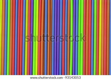 Colorful Selection of Drinking Straws for your background - stock photo