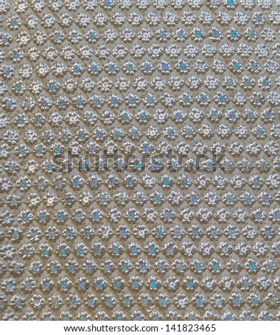 colorful sequins, fabric texture - stock photo