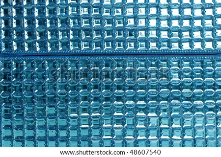 Colorful sequins macro closeup texture background sewed fabric - stock photo