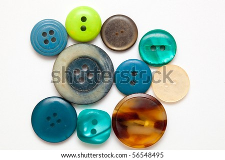 Colorful sewing buttons - stock photo