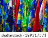 Colorful shirts at a street store, St. Thomas, USVI - stock photo