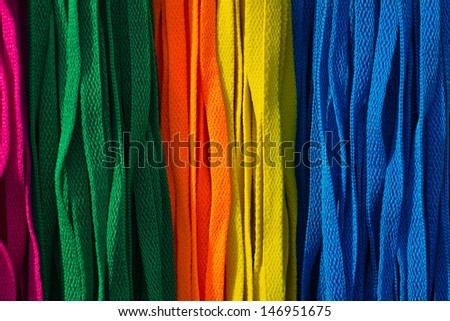 Colorful shoe-laces fashion design - stock photo