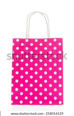 Colorful shopping bag isolated on white background - stock photo