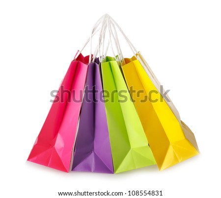 Colorful shopping bags - stock photo
