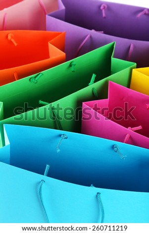 Colorful shopping bags background - stock photo