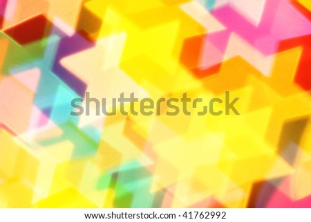 Colorful six-point stars, may be used as background - stock photo