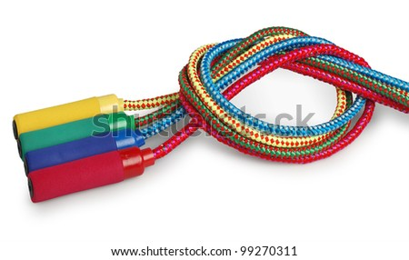 colorful skipping ropes - stock photo