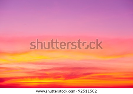colorful sky after sunset - stock photo
