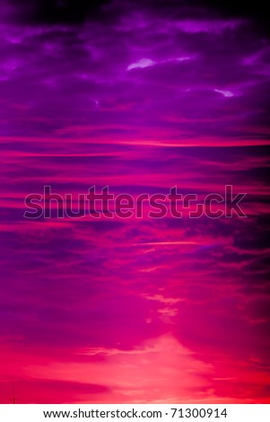 colorful sky after the sunset - stock photo