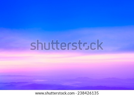 Colorful sky after the sunset. Natural Sky Background . - stock photo