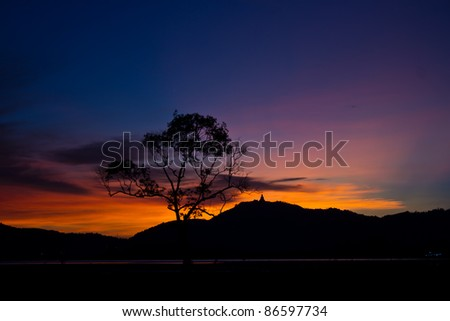 Colorful sky at sunset - stock photo
