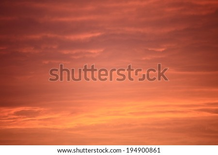 Colorful sky at sunset abstract orange sunset - stock photo