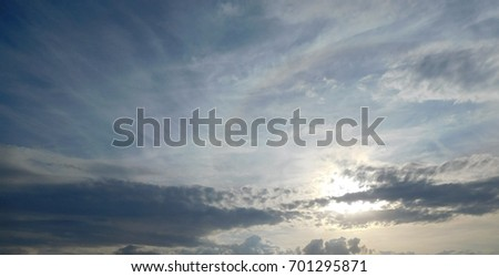 colorful sky with cloud at sunset
