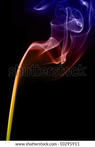 colorful smoke background - stock photo