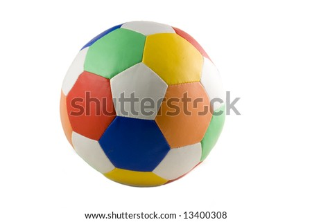 colorful soccer ball isolated on white background - stock photo