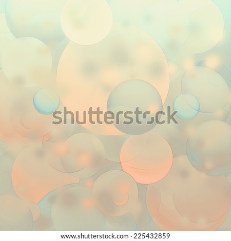 Colorful soft bubbles background - stock photo