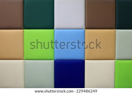 Colorful soft wallcovering panel for textured background pattern - stock photo