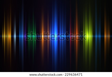 Colorful sound wave - stock photo