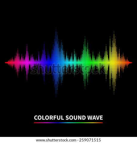 Colorful sound wave background. Equalizer, swing and music - stock photo