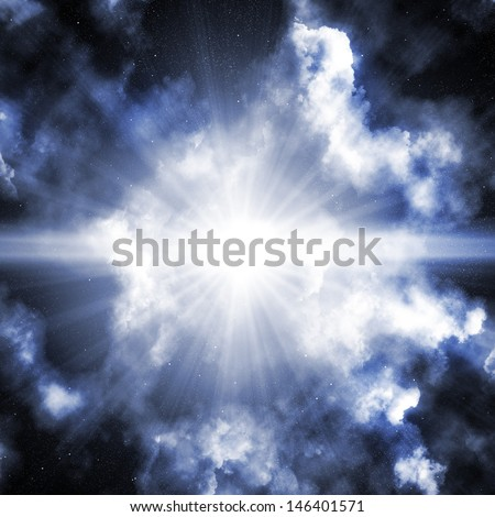 Colorful space nebula - stock photo