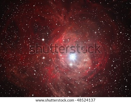 Colorful space nebula ( abstract background ) - stock photo