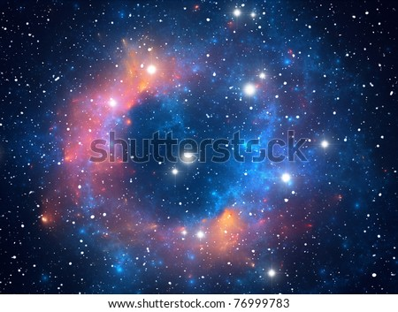 Colorful space star nebula - stock photo