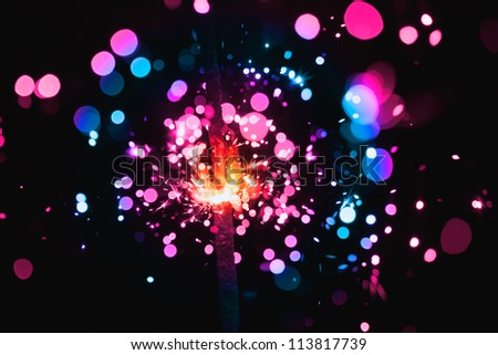 colorful sparkler - stock photo