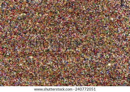 Colorful sparkling chips in various composition / Abstract background / Festive, holiday and fashionable accessory background - stock photo