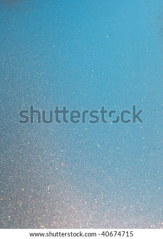 Colorful sparkling window frost texture - stock photo