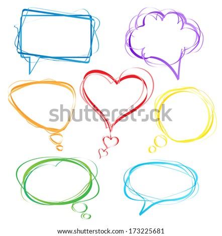 Colorful speech bubbles - stock photo