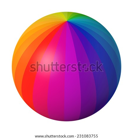 Colorful sphere on white background.  - stock photo