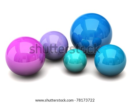 Colorful spheres - stock photo