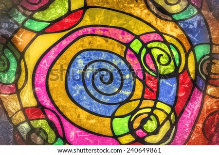 colorful spiral background texture - stock photo