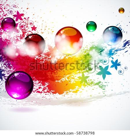 Colorful splash background - stock photo