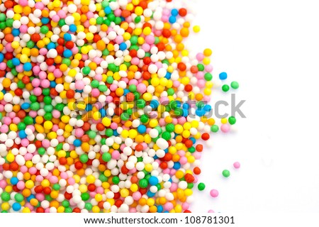 Colorful sprinkles with copy space - stock photo