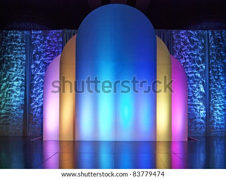 Colorful stage - stock photo