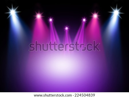 Colorful stage light background - stock photo