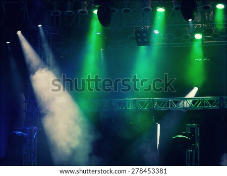 Colorful stage lights - stock photo