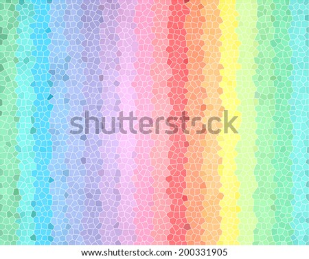 Colorful stained glass pixel tile texture wall texture background. - stock photo